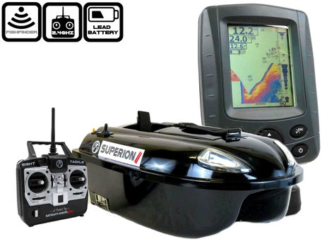 Sight Tackle Superion II Voerboot met Sight Tackle SK500 Kleuren Fishfinder