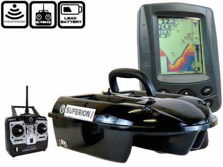 Sight Tackle Superion I Voerboot met Sight Tackle SK500 Kleuren Fishfinder