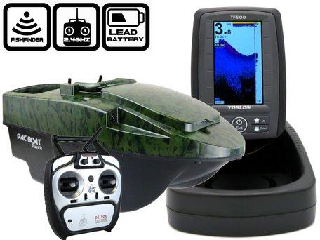 Anatec Pacboat Start'R Evo Camo Ivy met Toslon TF-500 Fishfinder