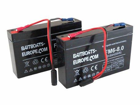 BaitBoats-Europe.Com Voerboot Lood Accu 6volt 8ah
