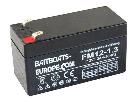 BaitBoats-Europe.Com Fishfinder Lood Accu 12volt 1.3ah