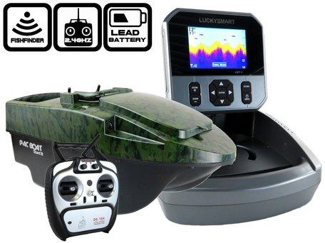 Anatec Pacboat Start'R Evo Camo Ivy met LBT-1 Kleuren Fishfinder