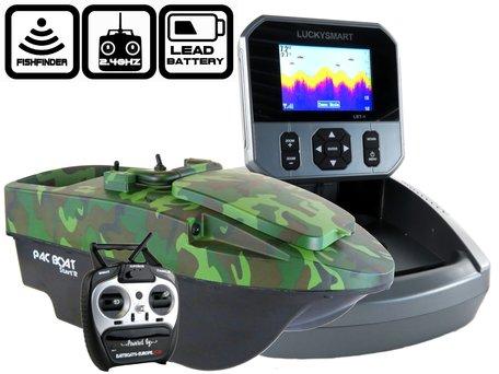 Anatec Pacboat Start'R Evo Forest Camo met LBT-1 Kleuren Fishfinder