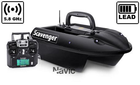 Navic Scavenger voerboot met Lood Accu