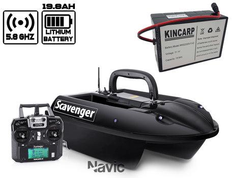 Navic Scavenger Voerboot met Lithium ION Accu