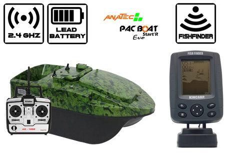 Anatec Pacboat Start'R Evo Camo Ivy met Navic Black and White Fishfinder