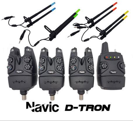 Navic D-Tron 3+1 beetmelder set met 3x verlichte Snagears