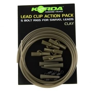 Korda Lead Clip Action Pack Clay (KLCAPC)
