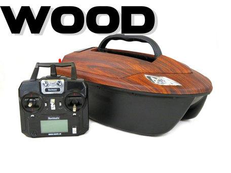V6 Wood Voerboot met Lood Accu