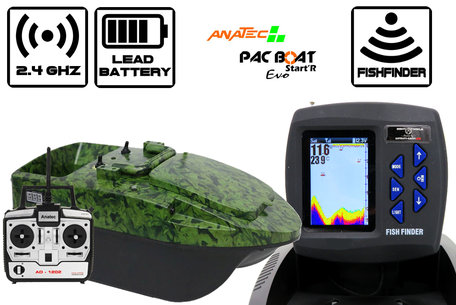 Anatec Pacboat Start'R Evo Camo Ivy met Sight Tackle Kleuren Fishfinder