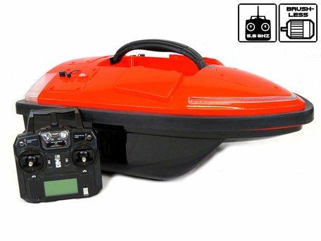 Sight Tackle Falcon Orange Voerboot met GPS Autopilot en Lood Accu's