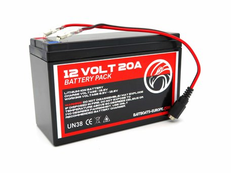 Voerboot Lithium ION Accu 12v 20aH